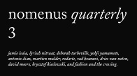 nomenus quarterly 3